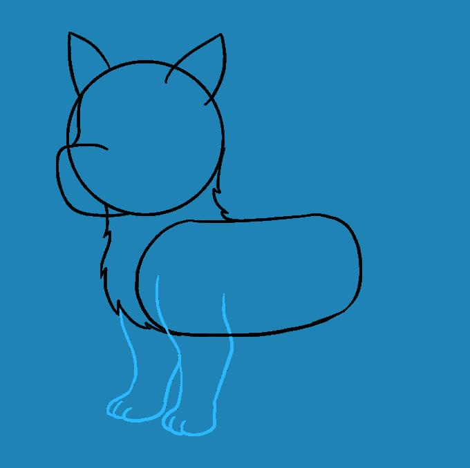 How to Draw Husky: Step 5