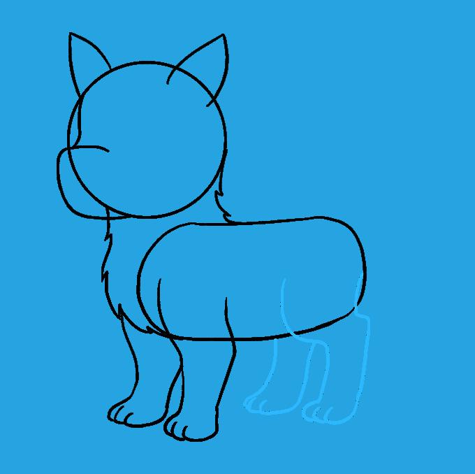 How to Draw Husky: Step 6