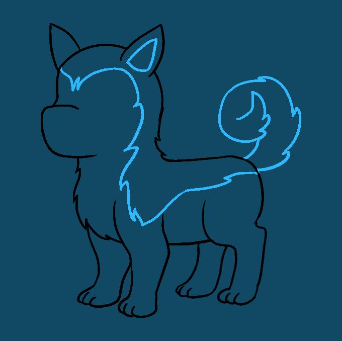 How to Draw Husky: Step 8