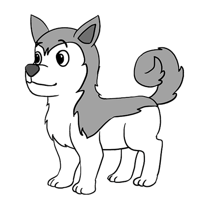 How To Draw A Husky Really Easy Drawing Tutorial