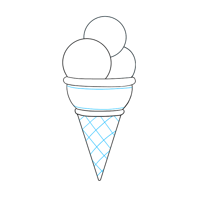 How to Draw Ice Cream: Step 7