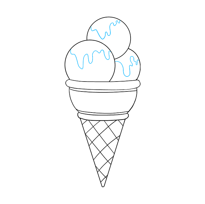 How to Draw Ice Cream: Step 8