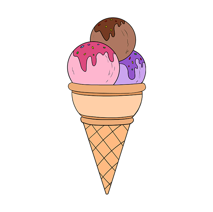 How to Draw Ice Cream: Step 10