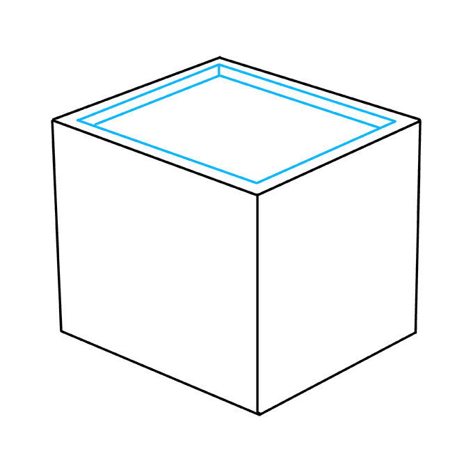 How to Draw Impossible Cube: Step 3