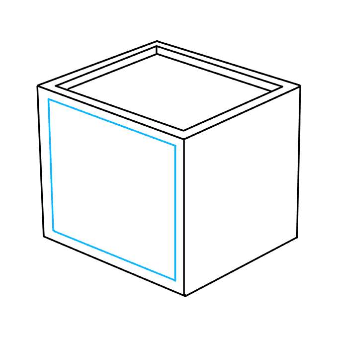 How to Draw Impossible Cube: Step 4