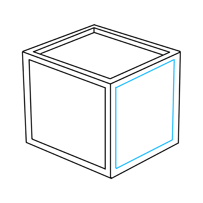 How to Draw Impossible Cube: Step 5