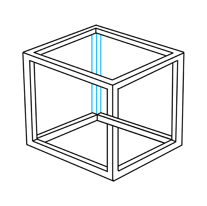 How to Draw Impossible Cube: Step 9
