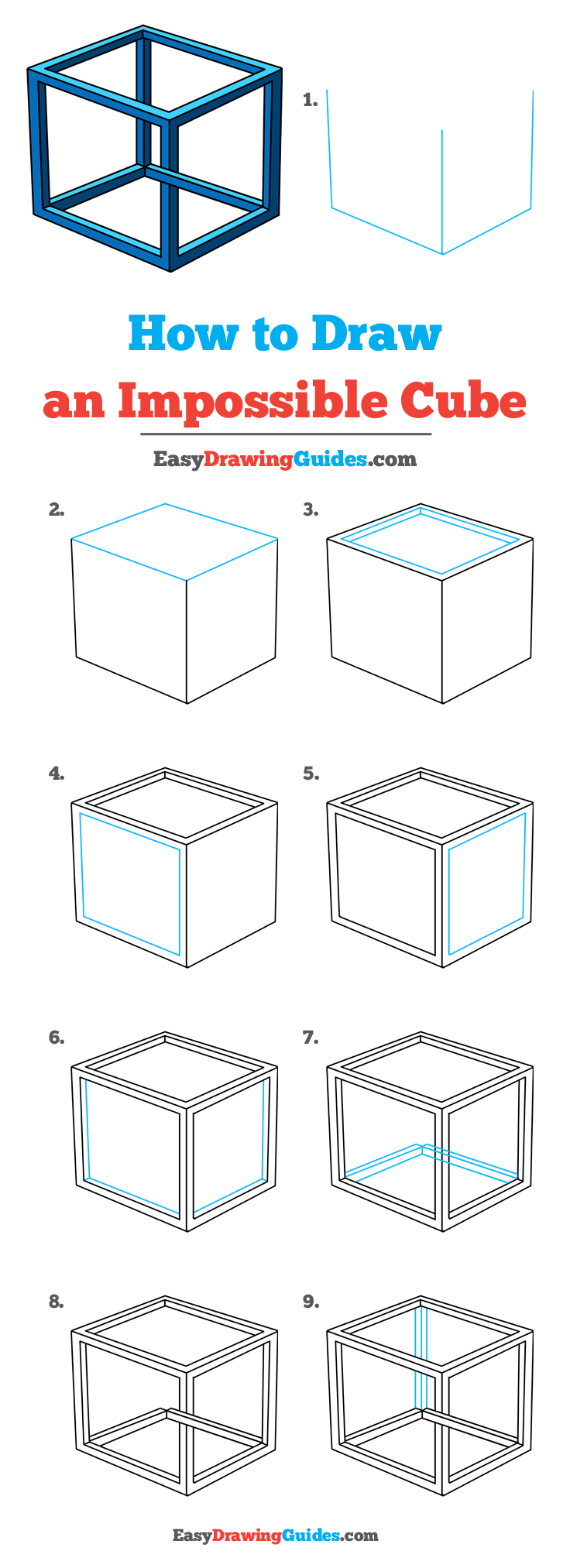 How to Draw Impossible Cube