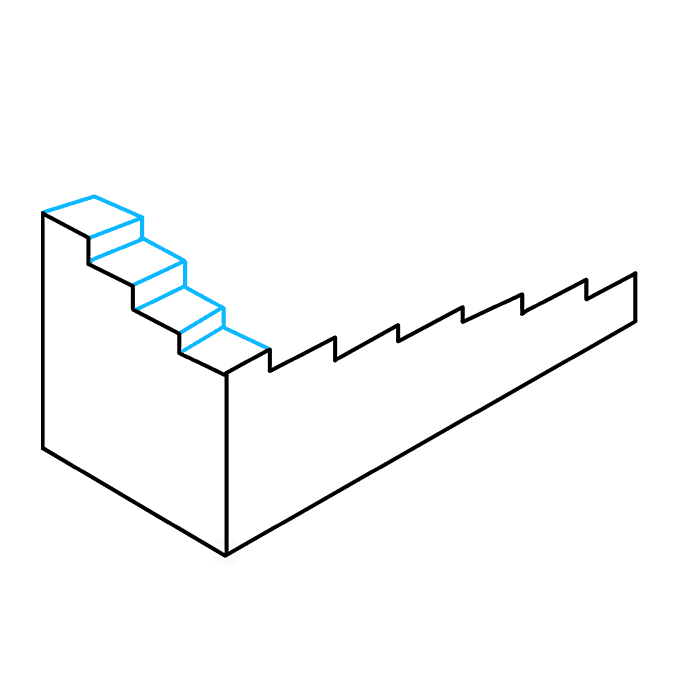 How to Draw Impossible Stairs: Step 5