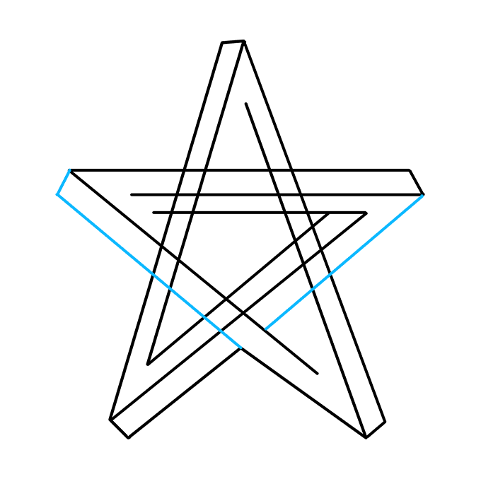 How to Draw an Impossible Star Step 06