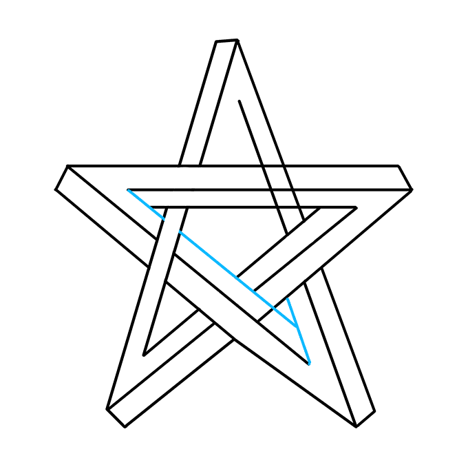 How to Draw Impossible Star: Step 7