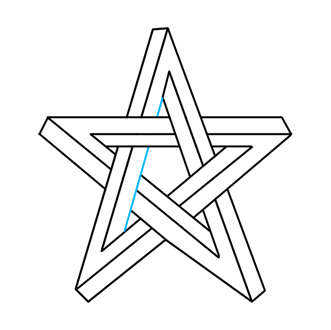 How to Draw an Impossible Star Step 09