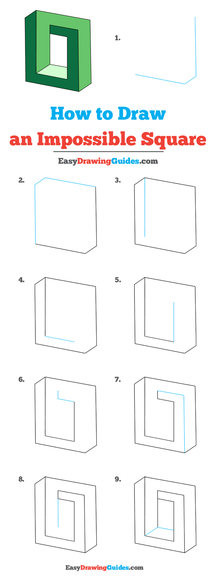 How to Draw Impossible Square