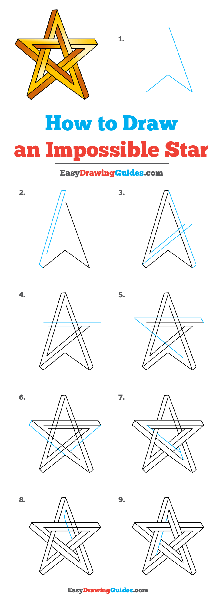 How to Draw an Impossible Star Pinterest Image