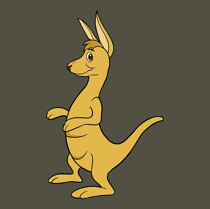 How to Draw a Kangaroo Step 10