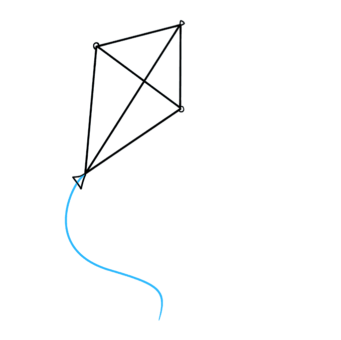 How to Draw Kite: Step 4