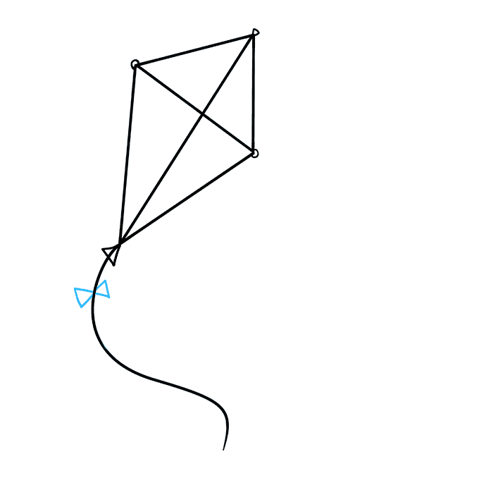 How to Draw Kite: Step 5