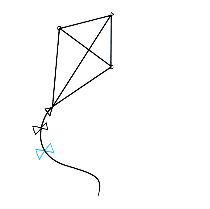 How to Draw Kite: Step 6