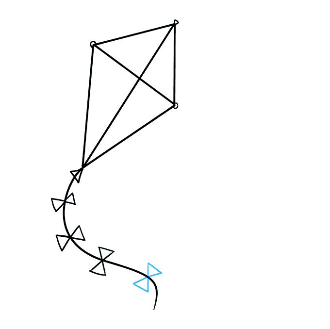 How to Draw Kite: Step 8