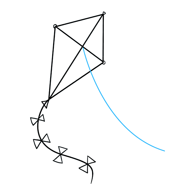 How to Draw Kite: Step 9