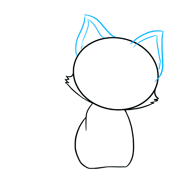 How to Draw Kitten: Step 4
