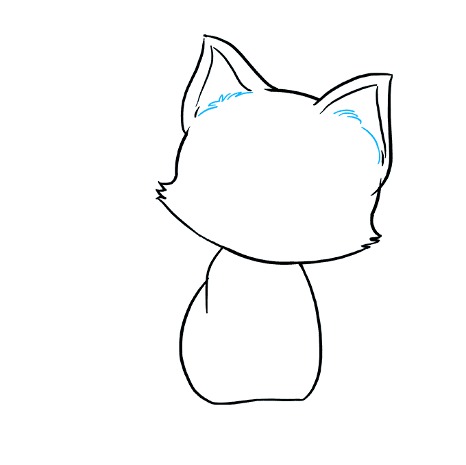 How to Draw Kitten: Step 5