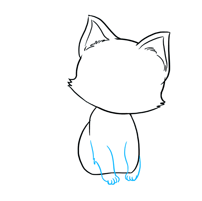 How to Draw Kitten: Step 6