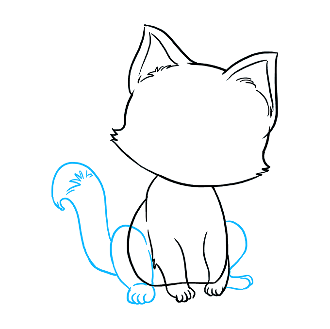 How to Draw Kitten: Step 7