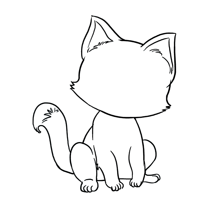 How to Draw Kitten: Step 8