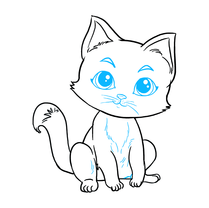 How to Draw Kitten: Step 9