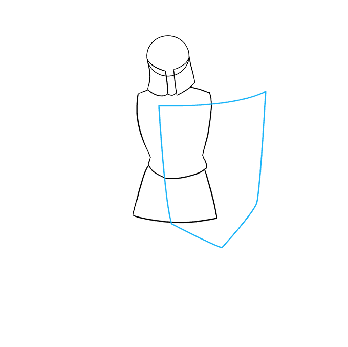 How to Draw Knight: Step 4