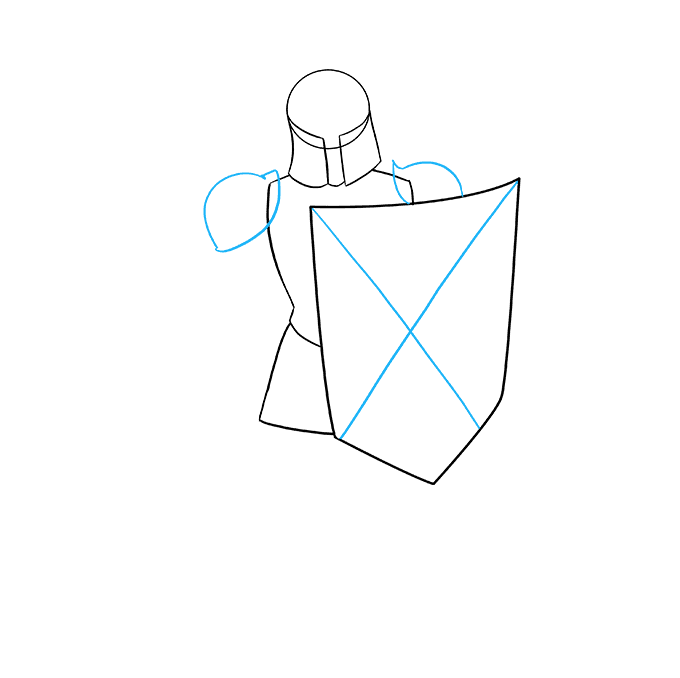 How to Draw Knight: Step 6