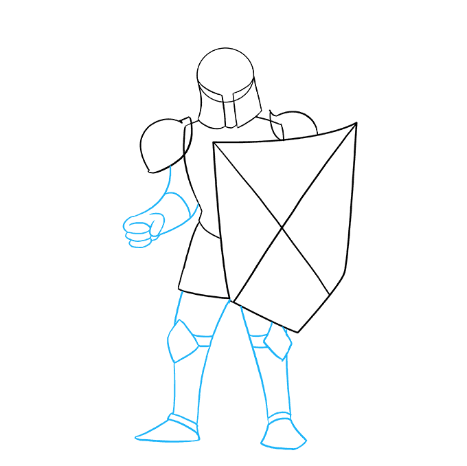 How to Draw Knight: Step 7