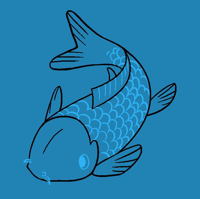 How to Draw Koi Fish Step 09