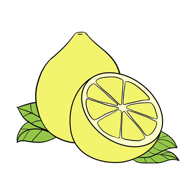How to Draw Lemon: Step 10
