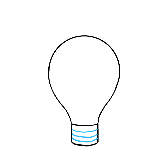 How to Draw Light Bulb: Step 6