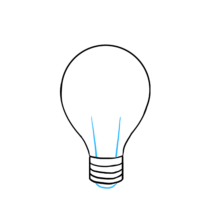 How to Draw Light Bulb: Step 7