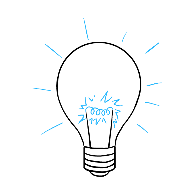 How to Draw Light Bulb: Step 9