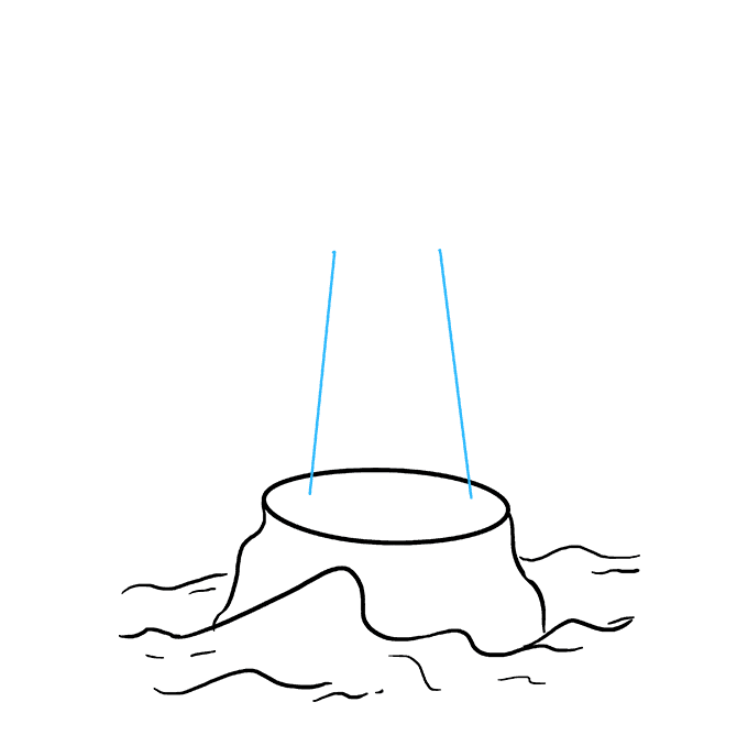 How to Draw Light House: Step 3