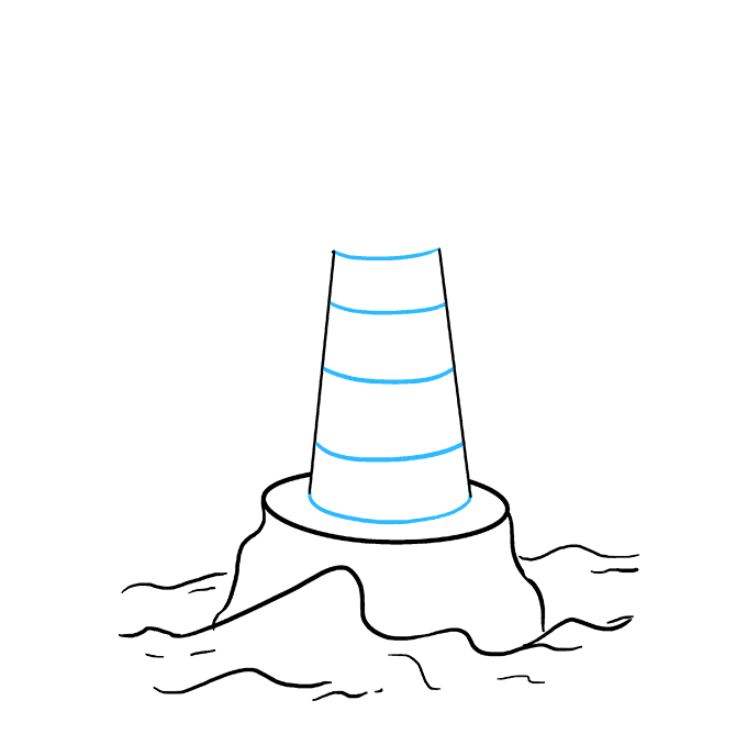 How to Draw Light House: Step 4