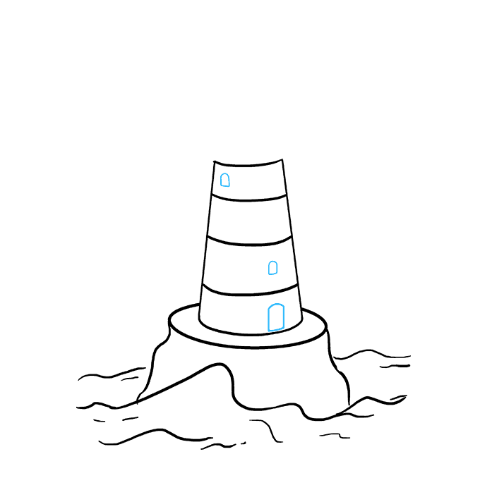 How to Draw Light House: Step 5