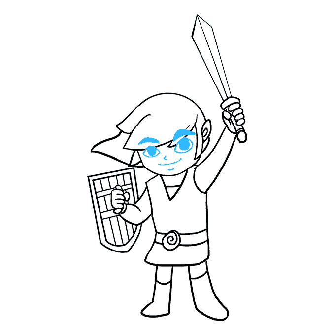 How to Draw Link from the Zelda Games: Step 9