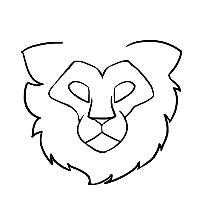 How to Draw a Lion Head Step 07