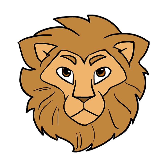 How to Draw Lion Head: Step 10