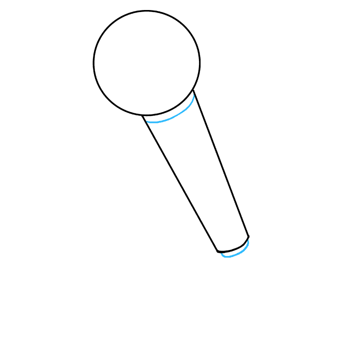 How to Draw Microphone: Step 5