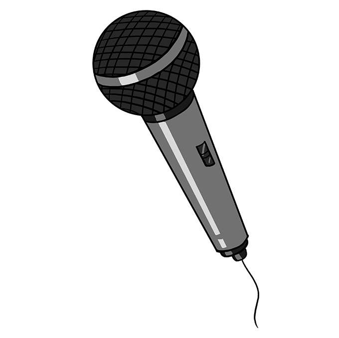 How to Draw Microphone: Step 10