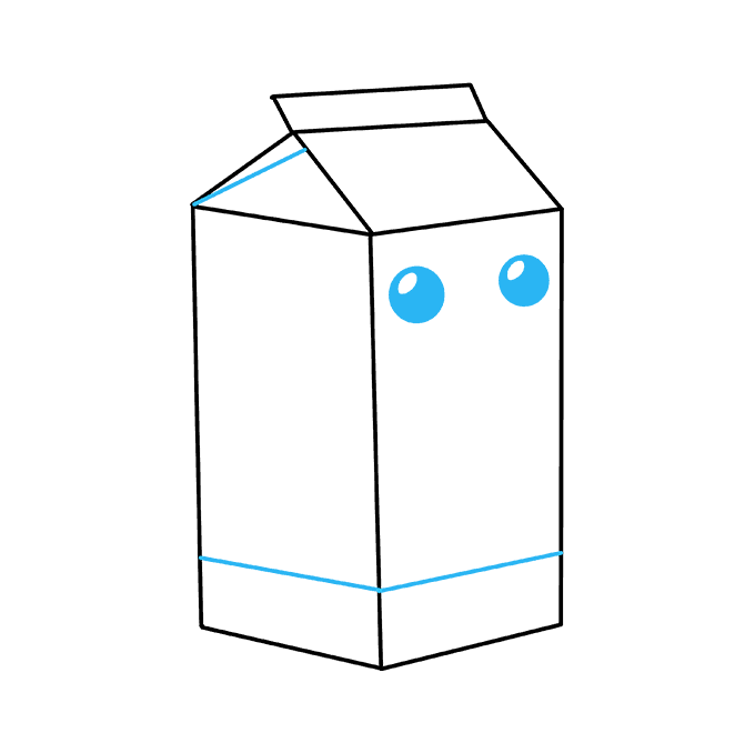 How to Draw Milk Carton: Step 8
