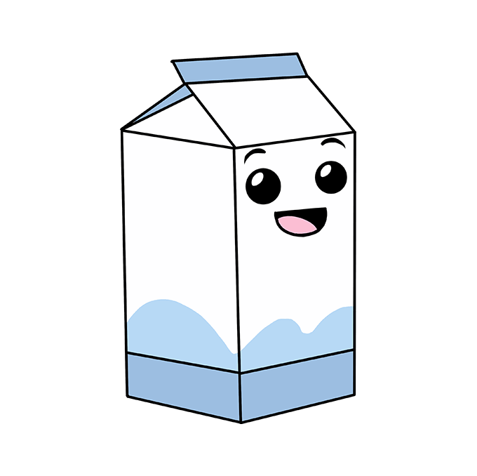 How to Draw Milk Carton: Step 10