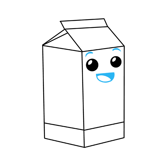 How to Draw Milk Carton: Step 9