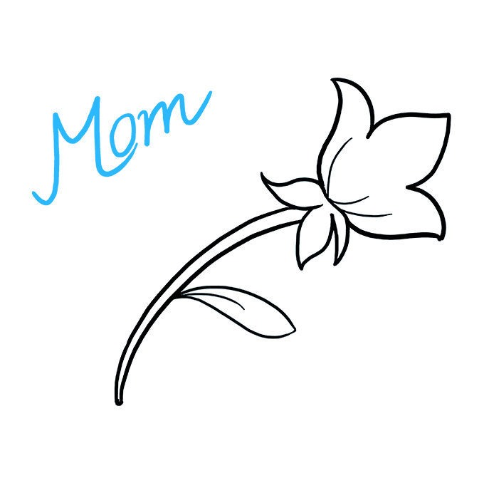 How to Draw Mother's Day Flower: Step 5